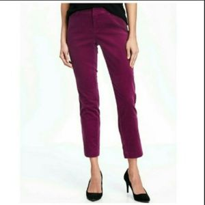 Old Navy plum velvet pixie pant